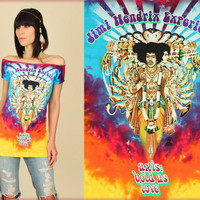 "JiMi Hendrix Experience ""Bold as Love"" Tie Dye DiY TUNIC T-Shirt"