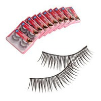 Amazon.com: New 20 Pairs Fake False Eyelashes Eye Lash Black with Glue HR-117: Beauty