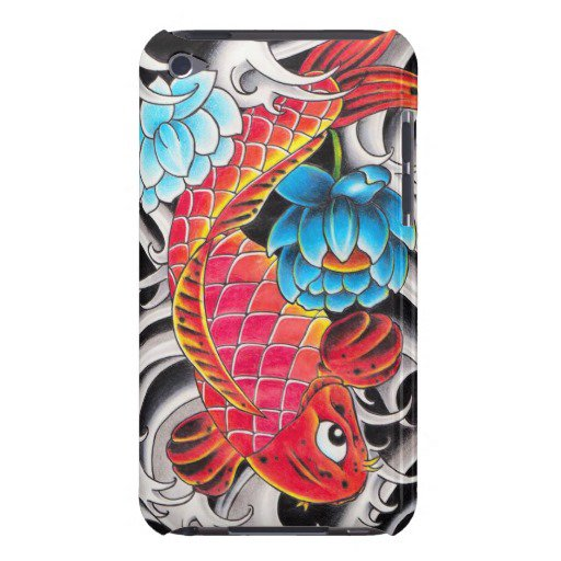 Cool oriental japanee red koi carp fish from zazzle ipod for Cool koi fish