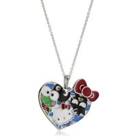 Hello Kitty Sterling-Silver 50th Anniversary Pendant - designer shoes, handbags, jewelry, watches, and fashion accessories | endless.com