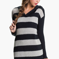 Rubbish® Rugby Stripe Hoodie Sweater (Juniors) | Nordstrom