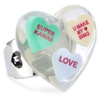 "Harajuku Lovers ""Candy Girls"" Multi-Candy Heart Stretch Ring - designer shoes, handbags, jewelry, watches, and fashion accessories 