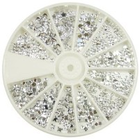 Nail Art MoYou Mix shape Silver Moon rhinestone Pack of 1200, Crystal Premium Quality Gemstones, beauty accessory for women nails, fun and easy to apply with top coat or nail glue!!: Amazon.co.uk: Beauty
