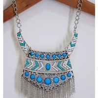 Turquoise Filigree Necklace