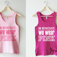 Women Tank Top - On Wednesday we wear pink - Christmas gift