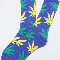 Exclusive Plantlife Socks in Soda Blue, Green, & Yellow HUF