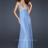 La Femme 17472 Periwinkle Embellished Gown Prom Dress Sz 00 to 8 New