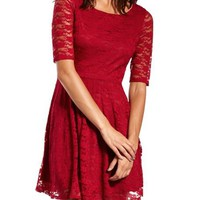 All Lace Skater Dress: Charlotte Russe