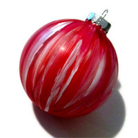 Red Christmas Ornament, Tree Ornament, Tree Decoration, Tree Bulb