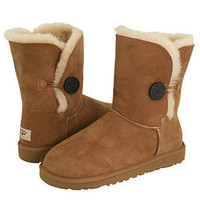 NIB UGG Bailley Button CHESTNUT 5803 Size 7