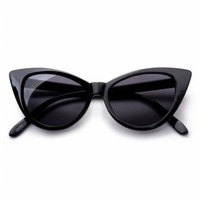 So Retro - So Retro - 50s Cat Eye Sunglasses Black zonnebril