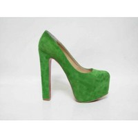 Christian Louboutin Green Waterproof Pumps [20111008] - &amp;#36;259.00 : shoesoutletus.com, shoesoutletus.com