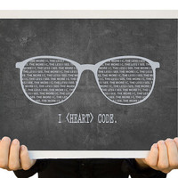 Programming Geek Art 8 x 10 Open Edition Print by TheWallaroo