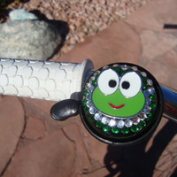 Keroppi Frog Beach Cruiser Bike Bell Custom Bling by cindymunoz