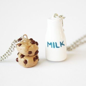 Milk and Cookies Friendship Pendants by WonderlandContraband