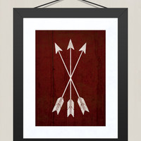 Cowboy Western Arrow Nursery Print, Nursery Wall Decor 8 x 10