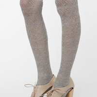 Pointelle Over-the-Knee Sock