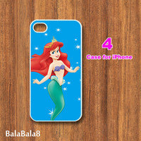 iPhone  4 case,iphone 5 Case--Cute Ariel, in durable plastic or rubber silicone case