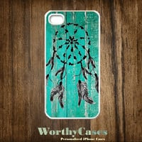 iPhone 4 case, iPhone 4s case, case for iPhone 4 mobile case handmade : Dream Catcher Wood Painting iPhone 4 Case
