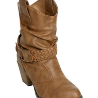 Braided Short Slouch Boot | Shop Shoes at Wet Seal
