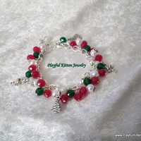 Holly Jolly Christmas Charm Bracelet