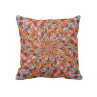 Confetti Burst Throw Pillows from Zazzle.com