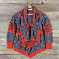 Fabled Canoe Sweater in Rust, Sweet Navajo Inspired Clothing