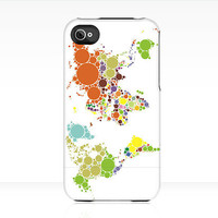 iPhone Case The WORLD Goes ROUND Uncommon Slider Case worldmap globe rainbow colorful iPhone 5 4s 3GS iPod