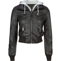 FULL TILT Fleece Hooded Womens Faux Leather Jacket 198119100 | Jackets | Tillys.com