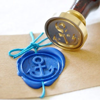 Anchor Gold Plated Wax Seal Stamp x 1