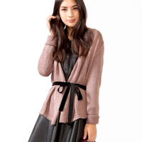 Essential Open Cardigan w/ Sash