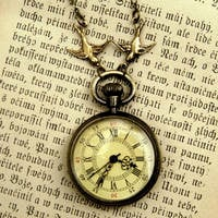 Brass Pocket Watch Necklace number 10 - $34.00 : RagTraderVintage.com, Handmade Indie Retro Accessories