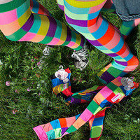 Socks  Socks  Checkered Neon Chaos OTKs  Sock Dreams