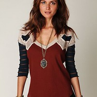 Free People Warrior Chief Crochet Back Top