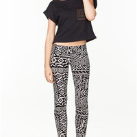 A'GACI New Ethnic Print Legging - New Arrivals