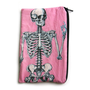 Pink Anatomical Skeleton Makeup Bag