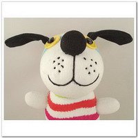 Handmade Sock Dog Stuffed Animal Doll Baby by supersockmonkeys