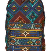 Multi Coloured Print Rucksack