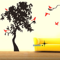 72inch H Tree Flying BirdsRemovable Graphic Art wall by ccnever