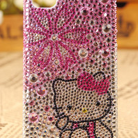 iPhone 4th Generation Crystals Kitty Skin Cover - gulleitrustmart.com