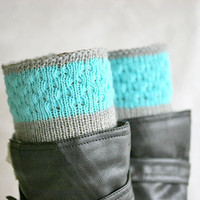 Knit boot socks, Boot toppers, Womens boot cuffs, Knit leg warmers