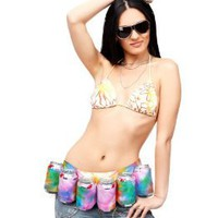 Big Mouth Toys Tye Dye 6-Pack Beer Belt/Holster: Amazon.com: Kitchen & Dining
