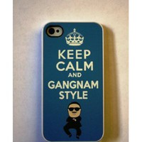 Amazon.com: Keep Calm and Gangnam Style Apple iPhone 4 / 4S BLUE Case (301w): Everything Else