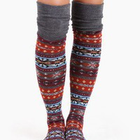 Fair Isle Knee High Socks @ FrockCandy.com