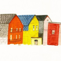 Cambridge Houses Print by kellylasserre on Etsy