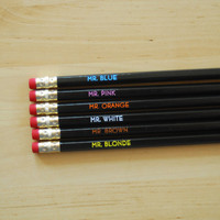 Pencil Set Reservoir Dogs by oneupdesigns on Etsy