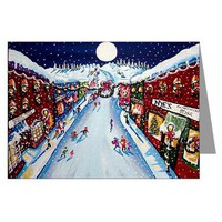 Christmas In City Greeting Cards (Pk of 10)> Greeting Cards Post Cards Note Cards> Renie Britenbucher Artwork