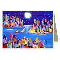 Moonlight Sail Greeting Cards (Pk of 10)> Greeting Cards Post Cards Note Cards> Renie Britenbucher Artwork
