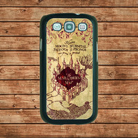 Samsung Galaxy S3 case--Harry Potter marauder's map,in plastic hard case,black or white or clear color