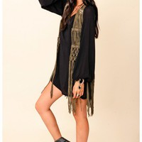 Blu Moon - Fringed Vest